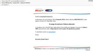 La finta email Telecom